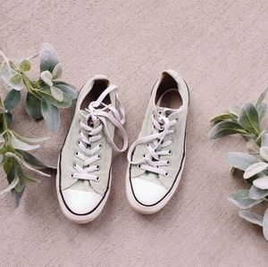 Converse Mint Green Low Top Sneakers